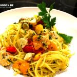Rezept Aglio e olio mit Lach - Kochbock.de