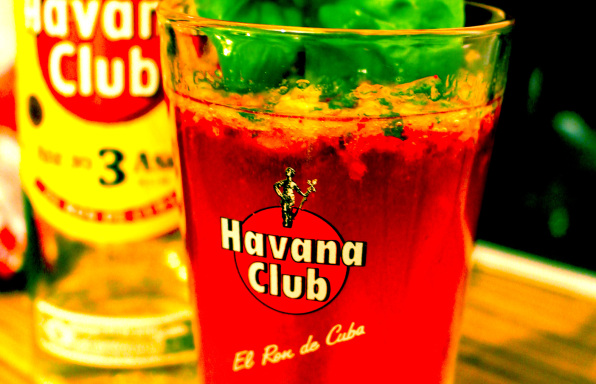 Cocktail Rezept Himbeer Mjito mit Basilikum von Kochbock.de