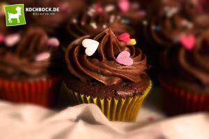 Rezept für Mini Schoko Cupcakes von KochBock.de