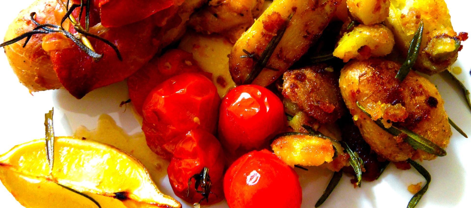 Rezept Zitronenhähnchen mit Rosmarinkartoffeln - Kochbock.de