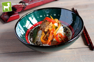 Thai Gemüse mit Schwein & Austernsauce