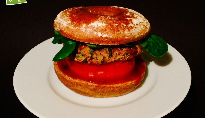 Rezept veganer Pilz Burger mit Bohnen - Kochbock.de