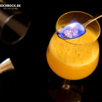 Rezept Cocktail Burning Sunset - Mandarinensaft mit Tequila - brennender Drink von Kochbock.de