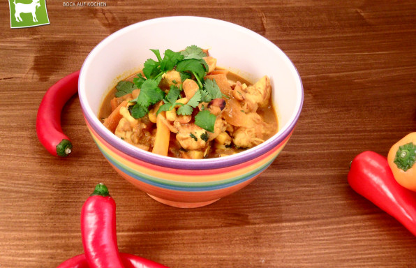 Rezept gelbes Curry mit Hähnchen von Kochbock.de