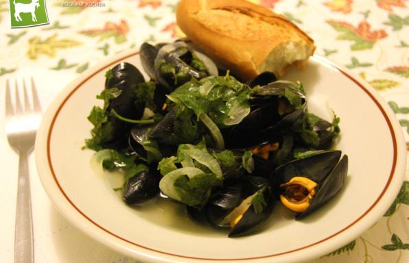 Rezept original italienisch Miesmuscheln Cozze - Kochbock.de