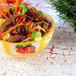 Rezept Pasta mit Rinderfiletstreifen & Karotten von KochBock.de