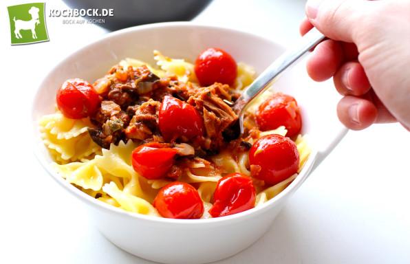 Rezept Spaghetti alla Puttanesca von KochBock.de