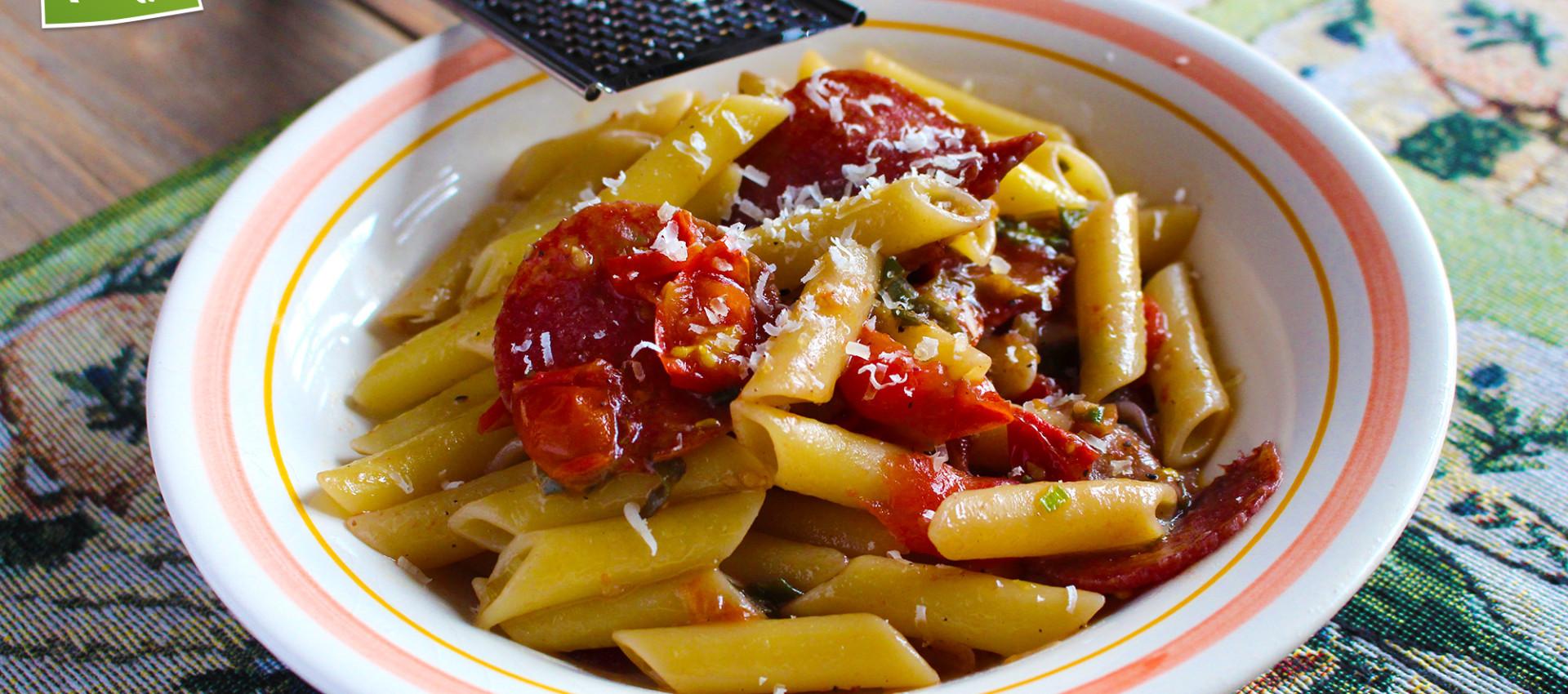 Rezept Penne mit italienischer Salami - KochBock.de