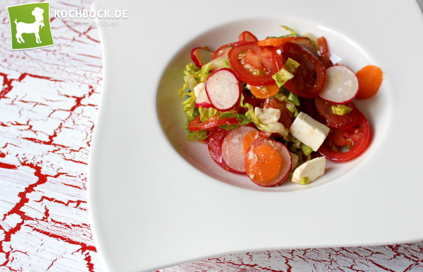 Rezept bunter Frühlingssalat an Pflaumenessig - Kochbock.de