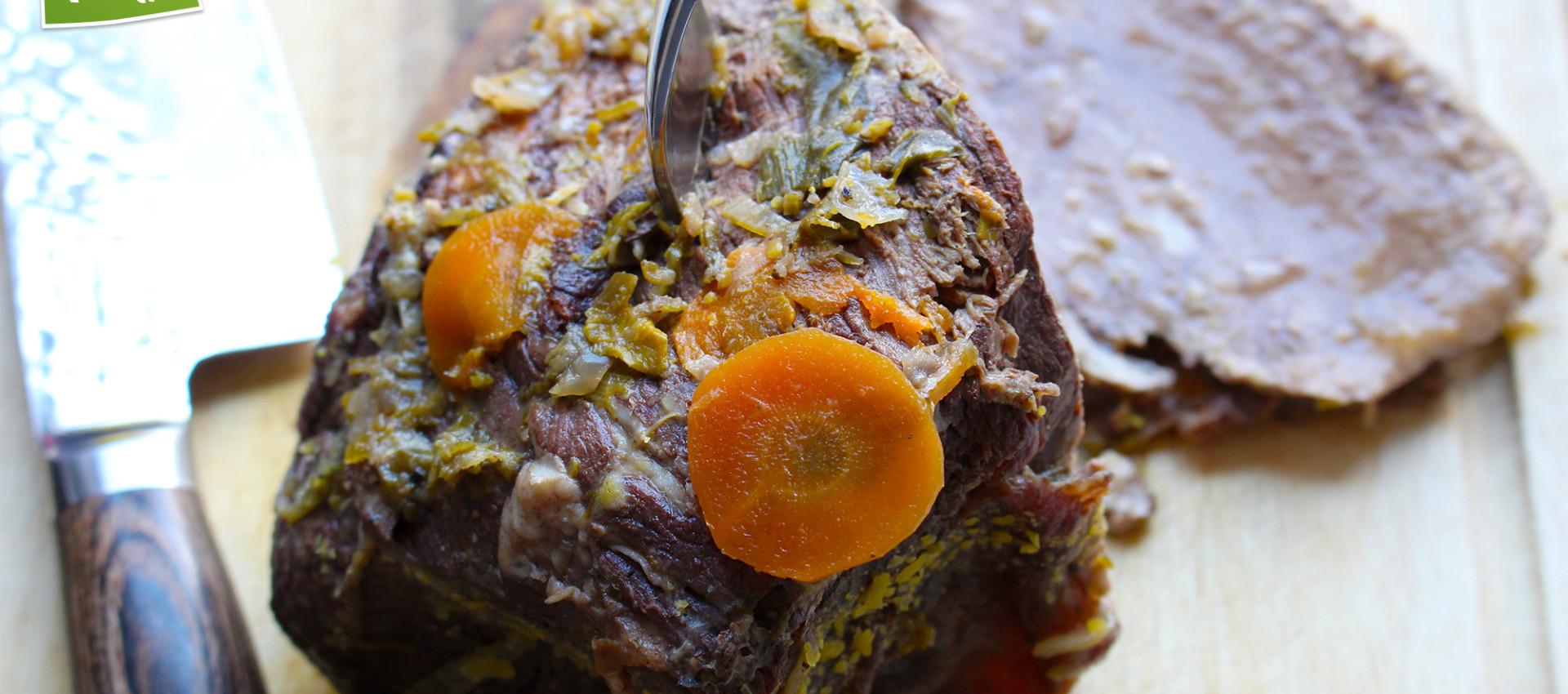 Rezept saftiger Rinderbraten mit Gemüse von Kochbock.de