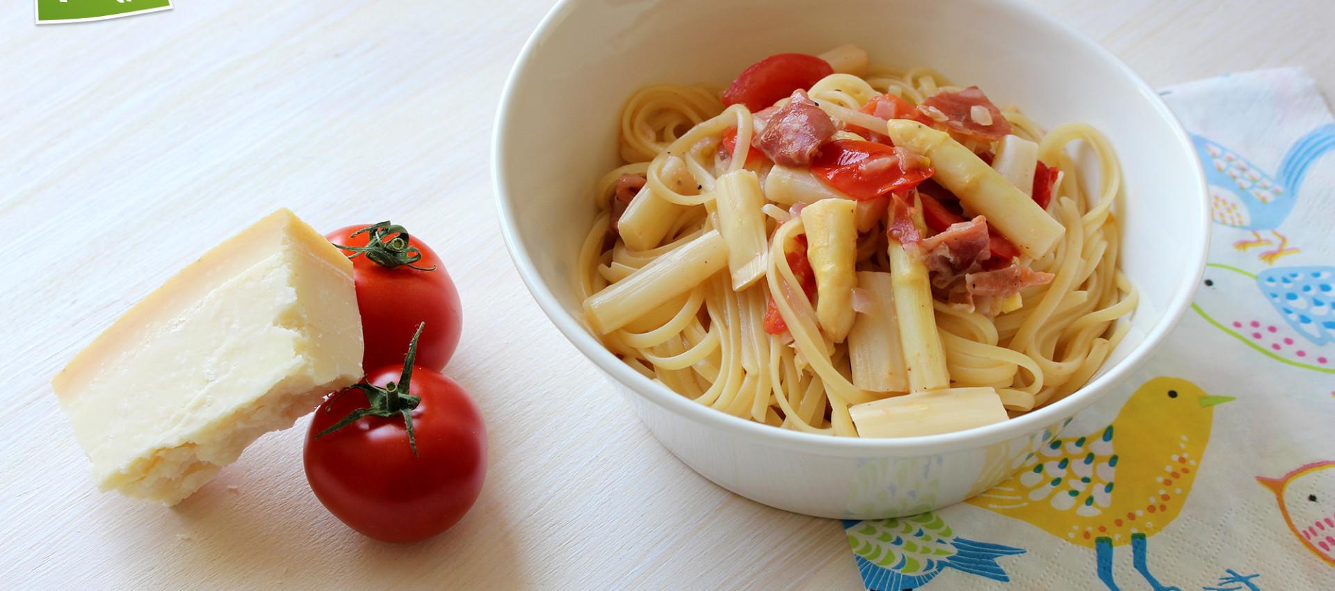 Rezept Pasta mit Spargel & Serrano Schinken - KochBock.de