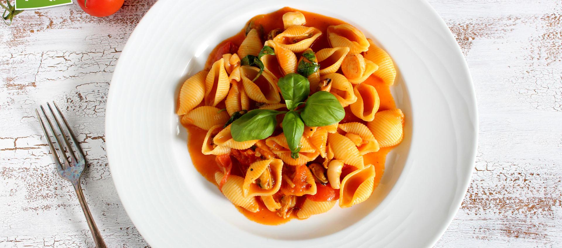 Pasta mit Meeresfrüchten von Kochbock.de