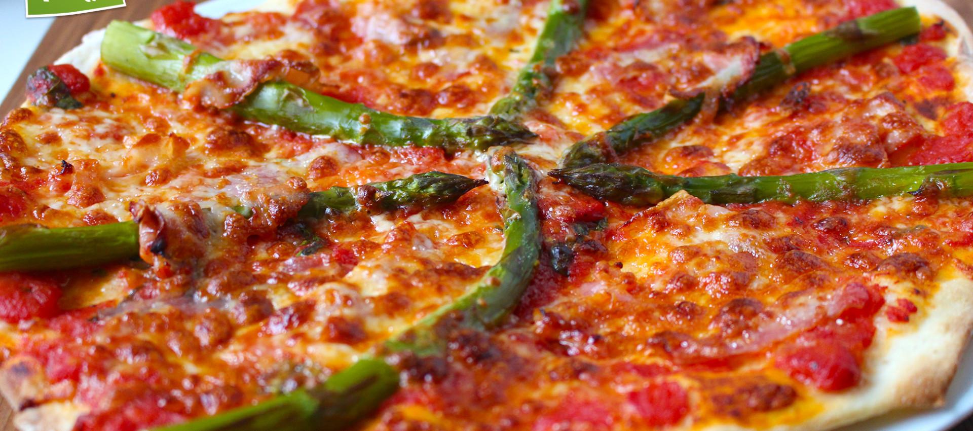 Rezept für Spargelpizza von KochBock.de