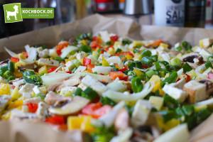 Leckeres Gemüse überbacken mit Feta von KochBock.de