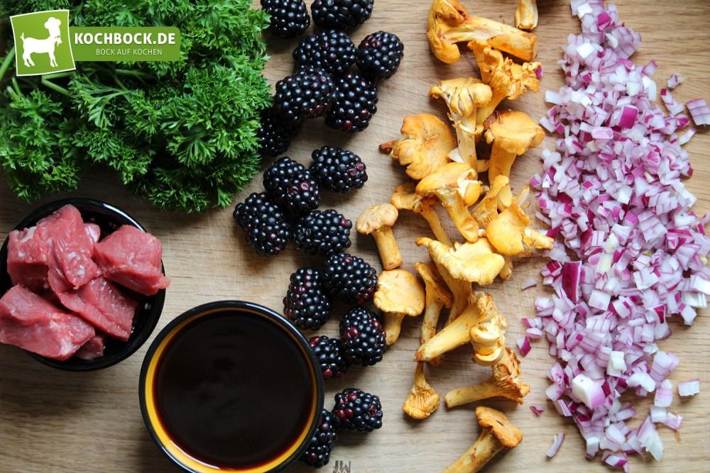 Zutaten für Pasta mit Entrecote von KochBock.de
