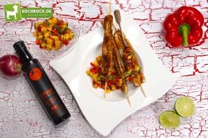 Rezept Putenspieß mit Mangosalsa mit TOMAMI
