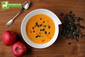 Rezept Kürbissuppe mit Apfel von KochBock.de