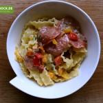 Rezept originale Carbonara mit Salami von KochBock.de