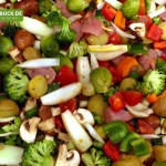 Rezept für Ofengemüse mit Hähnchen von KochBock.de
