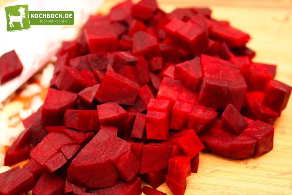 Gewürfelte rote Beete
