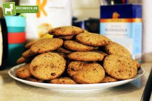 Schoko Cookies, Amerikanische Chocolate Cookies