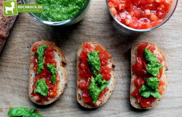 Rezept Tomaten Bruschetta Bärlauchpesto bei KochBock.de