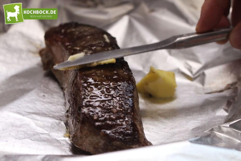Zwiebelrostbraten vom Roastbeef mit Kartoffelpüree von KochBock.de