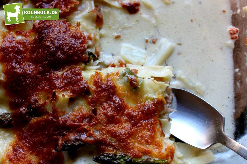 Rezept für eine Spargel-Lasagne von KochBock.de