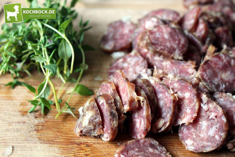 Rezept für Spargel Salsiccia Pasta von KochBock.de - Zutaten