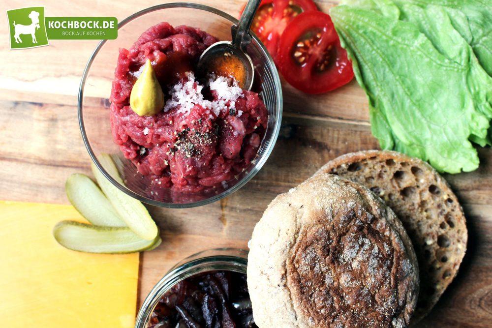 Rezept für einen Rinderfilet Burger von KochBock.de - Zutaten