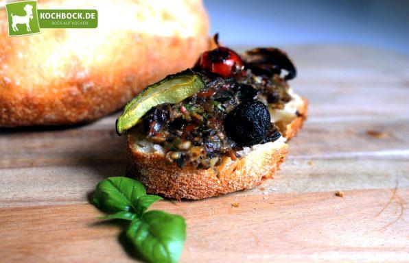 Rezept für Gegrilltes Antipasti auf Crostini von KochBock.de