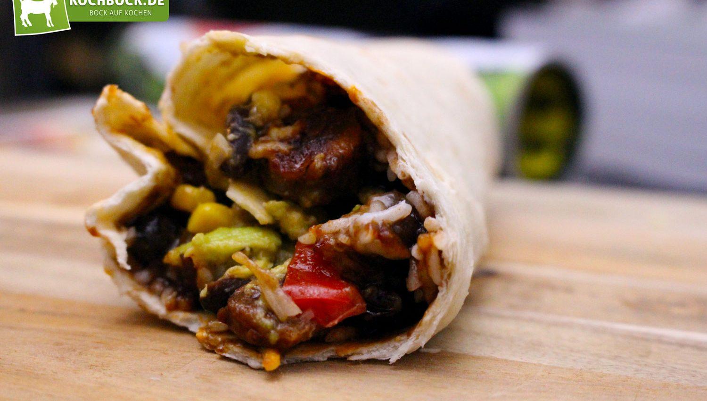 Rezept für Tortilla Wrap mit Rostbratwurst von KochBock.de