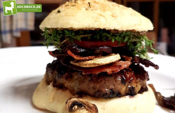 Rezept für einen Allgäuer Burger von KochBock.de