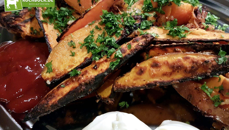 Rezept für Süßkartoffeln auf dem Ofen von KochBock.de