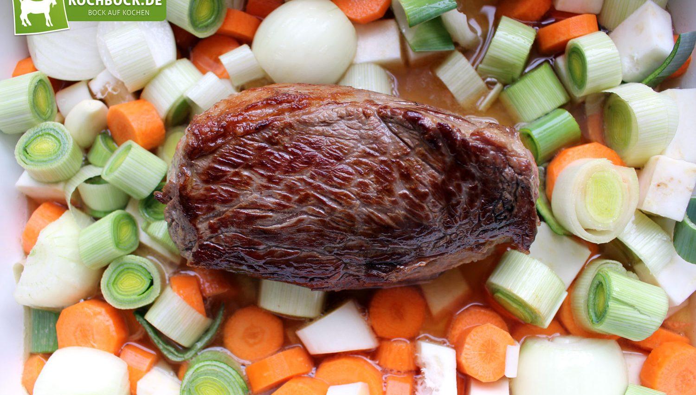Rezept für einen Tafelspitz aus dem Ofen von KochBock.de