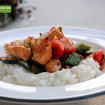 Rezept für Lachs mit Reis & Gemüse von KochBock.de