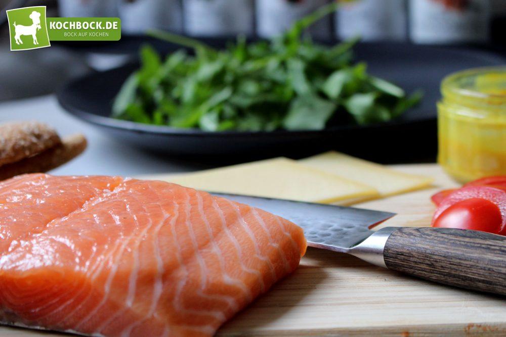 Rezept für einen Lachsbuger von KochBock.de - zutaten