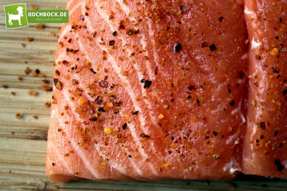Rezept für einen Lachsbuger von KochBock.de - Lachs